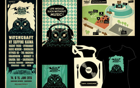 Blue Moon Festival | Flyer, Poster, Sticker, Merch