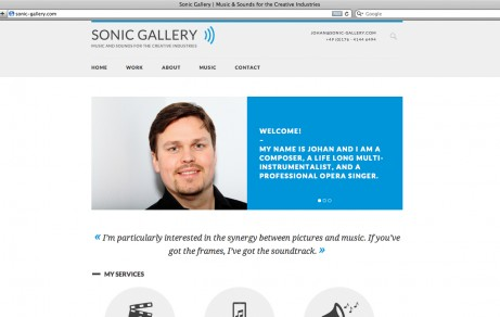 Sonic Gallery | Website