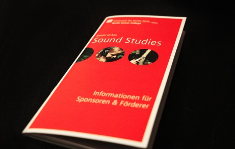 """Sound Studies"" UdK Berlin | Sponsoring Brochure"