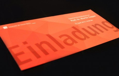 """Sound Studies"" UdK Berlin | Invitation card"